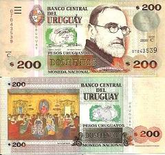 billet de 200 pesos 2006 Uruguay