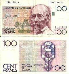 billet 100 francs 1992 Belgique