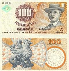billet 100 kroner 2002 Danemark