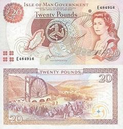 billet 20 pounds 2000 Ile de Man