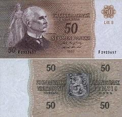billet 50 markkaa 1963 Finlande